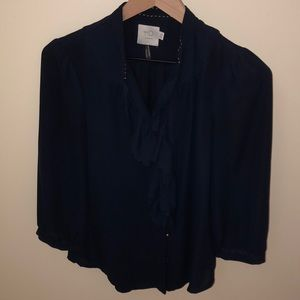 Anthropologie baby ruffle blouse